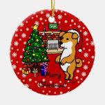Shiba Inu Puppy Christmas Ornaments