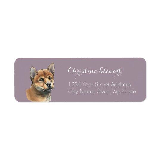 Shiba Inu Puppy Drawing Return Address Label