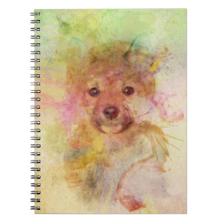 Shiba Inu Puppy Watercolor Notebook
