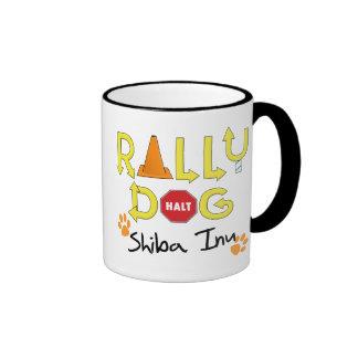 Shiba Inu Rally Dog Ringer Mug