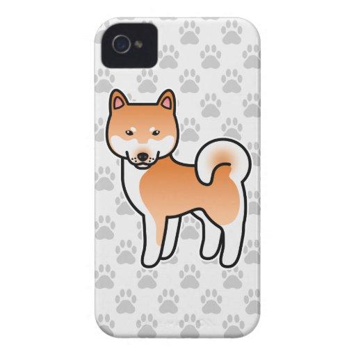 Shiba Inu Red Case-Mate iPhone 4 Cases