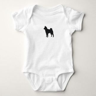 Shiba Inu Silhouette Baby Bodysuit