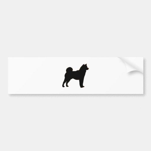 Shiba Inu silhouette Bumper Sticker