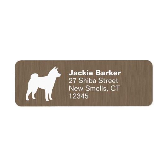 Shiba Inu Silhouette Return Address Label