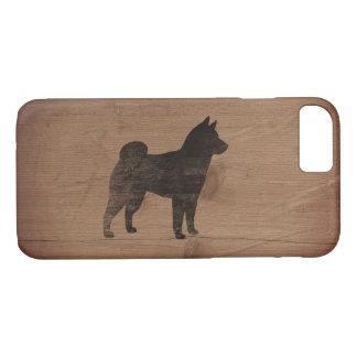 Shiba Inu Silhouette Rustic iPhone 8/7 Case