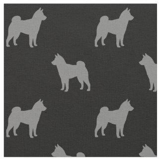 Shiba Inu Silhouettes Pattern Fabric