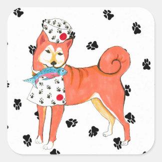 Shiba Inu Square Sticker