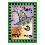 Shiba Inu Witch Greeting Card