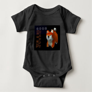 Shiba Puppy 3D Digital Art Dog Year 2018 Baby B Baby Bodysuit