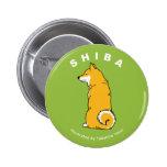 Shiba Round Button