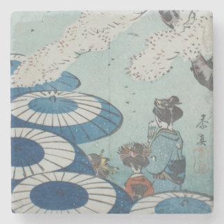 Shibata Zeshin's Cherry Blossom Spring Viewing Stone Coaster