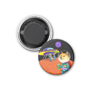 Shibe Doge Astro and the Aliens Memes Cats Cartoon 3 Cm Round Magnet