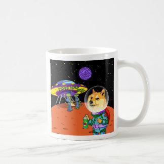 Shibe Doge Astro and the Aliens Memes Cats Cartoon Basic White Mug