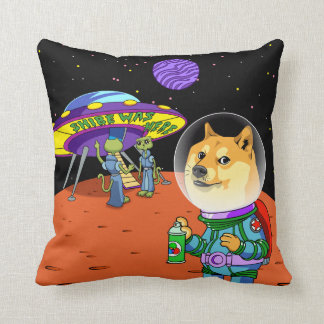 Shibe Doge Astro and the Aliens Memes Cats Cartoon Cushion