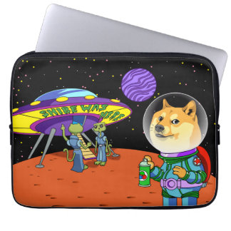 Shibe Doge Astro and the Aliens Memes Cats Cartoon Laptop Sleeve