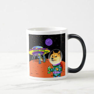 Shibe Doge Astro and the Aliens Memes Cats Cartoon Morphing Mug