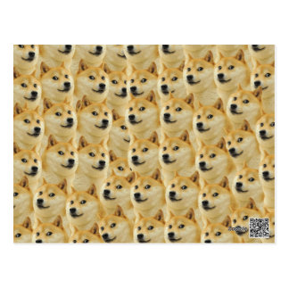 shibe doge fun and funny meme adorable postcard