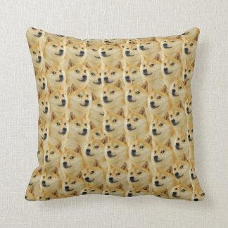 shibe doge fun and funny meme adorable throw pillow