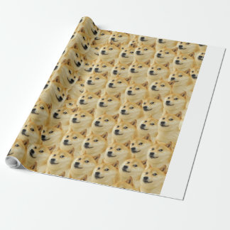 shibe doge fun and funny meme adorable wrapping paper