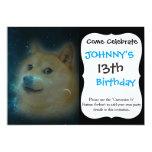 shibe doge in space 13 cm x 18 cm invitation card