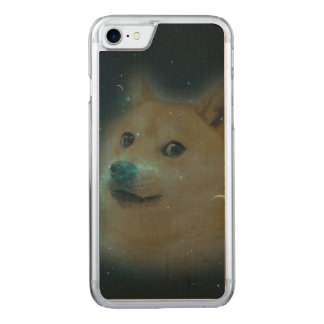 shibe doge in space carved iPhone 8/7 case