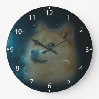 shibe doge in space clock