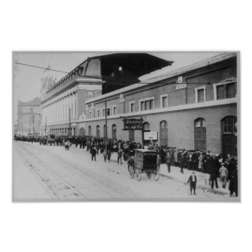 Shibe Park Philadelphia, Waiting for Baseball Game Poster