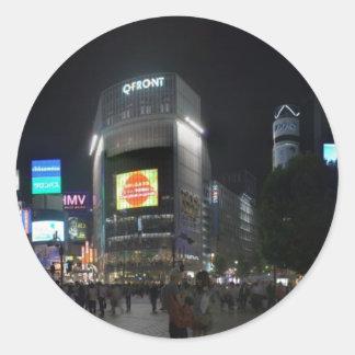 Shibuya 2 round sticker