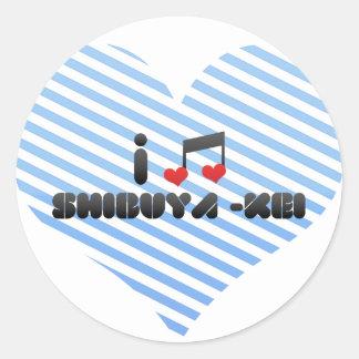 Shibuya -Kei Round Sticker