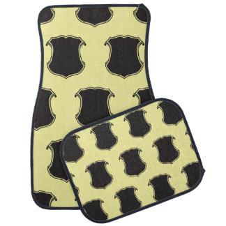 Shield Crest Black Light Yellow Floor Mat