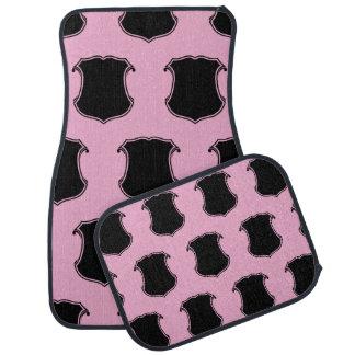 Shield Crest Black Pink Floor Mat