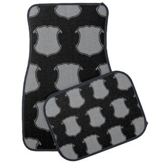 Shield Crest Grey Black Car Mat