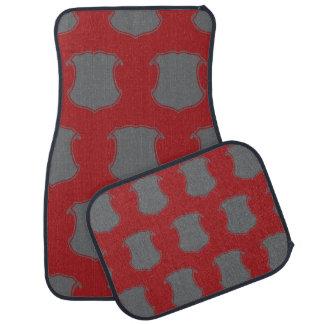 Shield Crest Grey Red Floor Mat