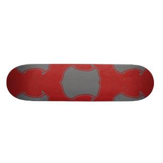 Shield Crest Grey Red Skate Decks