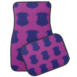 Shield Crest Purple Magenta Floor Mat
