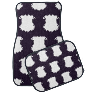 Shield Crest white purple Car Mat