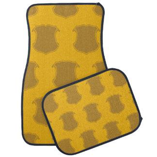 Shield Crest yellows Floor Mat