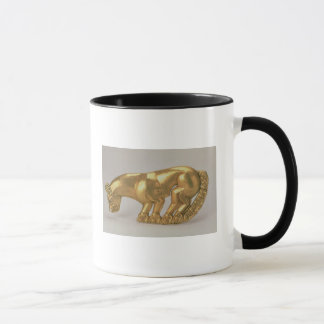 Shield emblem in the form of a panther mug