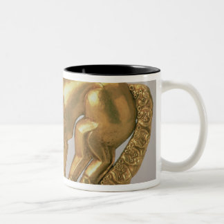 Shield emblem in the form of a panther Two-Tone coffee mug