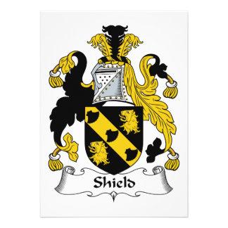 Shield Family Crest Invites