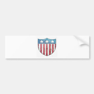Shield logo car bumper sticker
