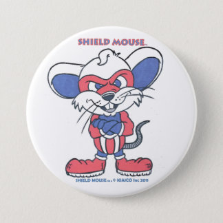 SHIELD MOUSE 7.5 CM ROUND BADGE