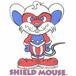 SHIELD MOUSE Ornament Acrylic Cut Out