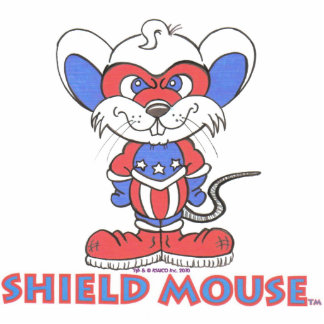 SHIELD MOUSE Sculpture 5x7 Standing Photo Sculpture