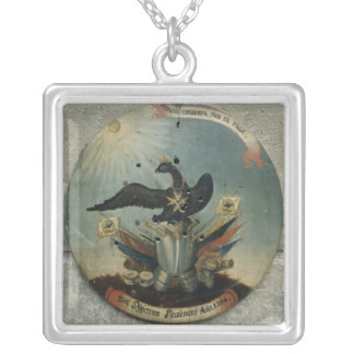 Shield of a Prussian officer, 1764 Silver Plated Necklace