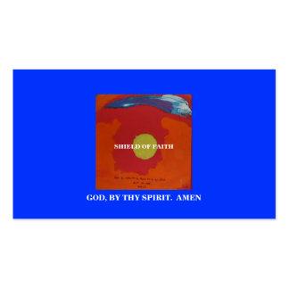 SHIELD OF FAITH BUSINESS CARDS