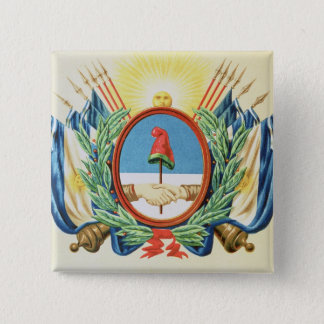 Shield of the Confederation of Argentina 15 Cm Square Badge