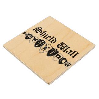 Shield Wall Wood Coaster