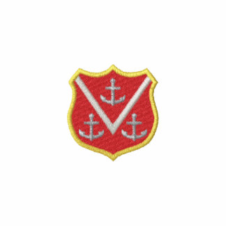 Shield with Anchors Polo Shirts