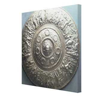 Shield with the head of Medusa, 1552 Stretched Canvas Print